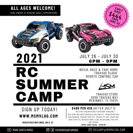 2021 MSM RC Summer Camp Announcement