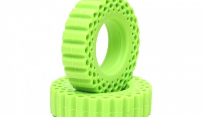 Boom Racing Rock Monster Yellow and Green Silicone Tire Inserts