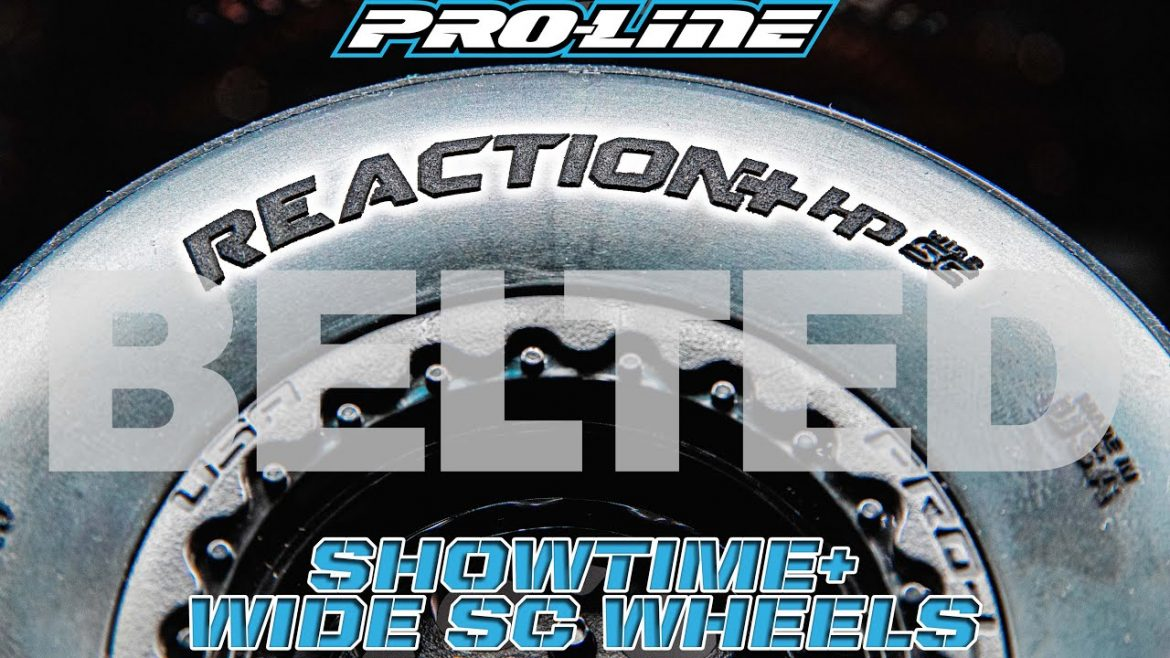Pro-Line Reaction HP Wide SC BELTED Tires and Showtime Wide SC Wheels