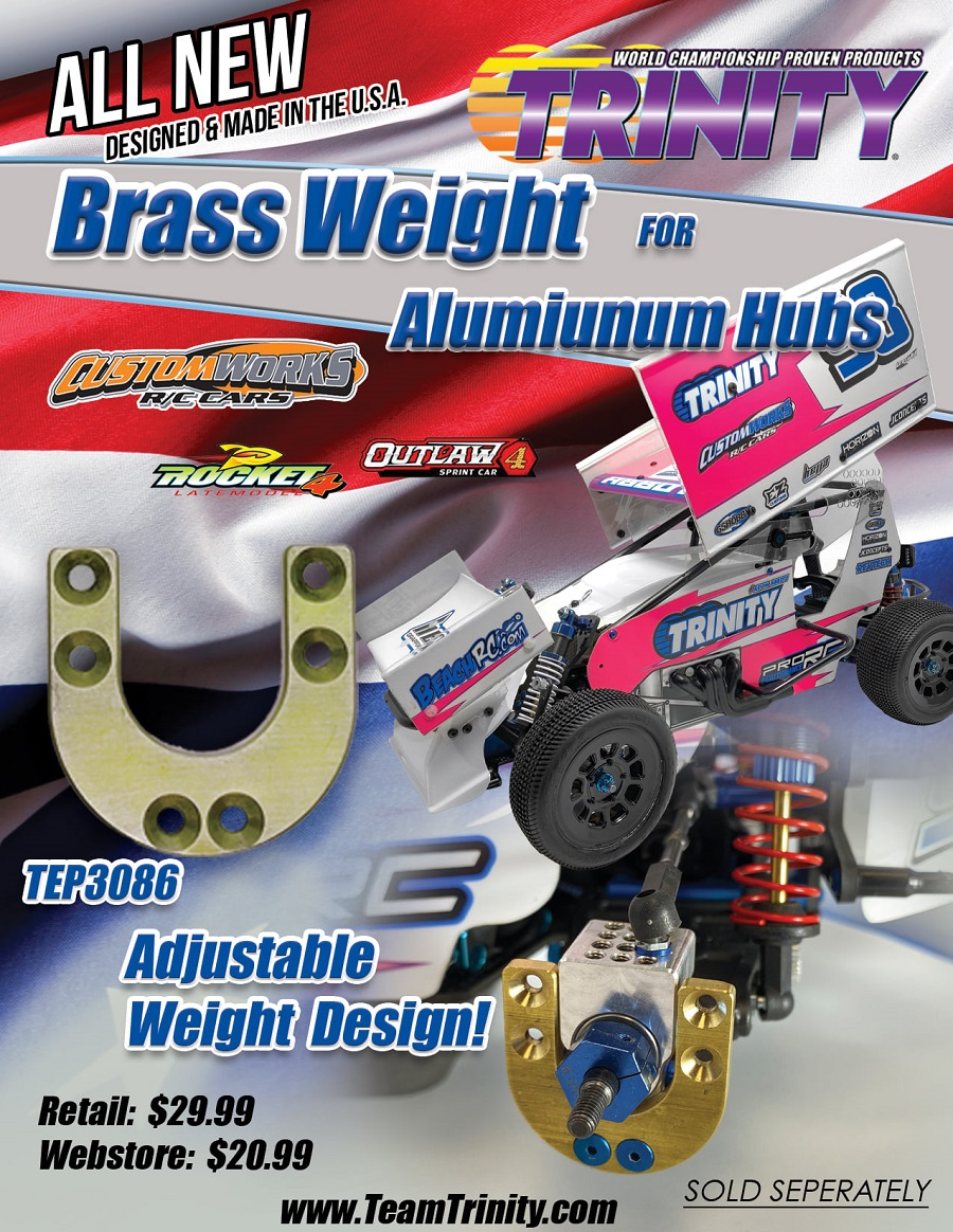 Trinity Optional Brass Weight For Aluminum Rear Hubs For Custom Works Vehicles