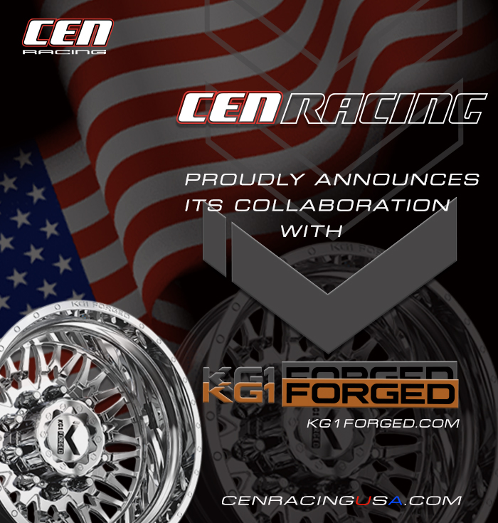 CEN Racing Announces New Collaboration With KG1 FORGED Wheels