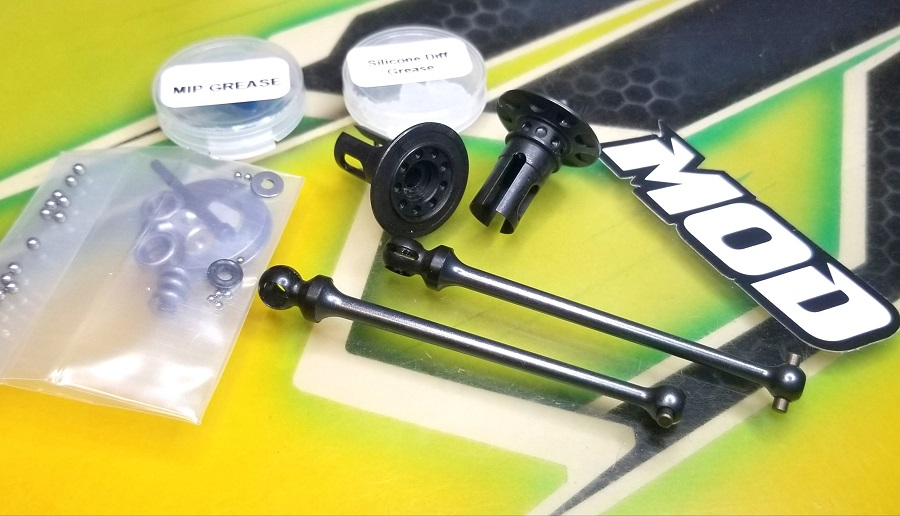 MOD Feather Weight Ball Diff & 69mm Aluminum Pin Bone Kit For The B6.3