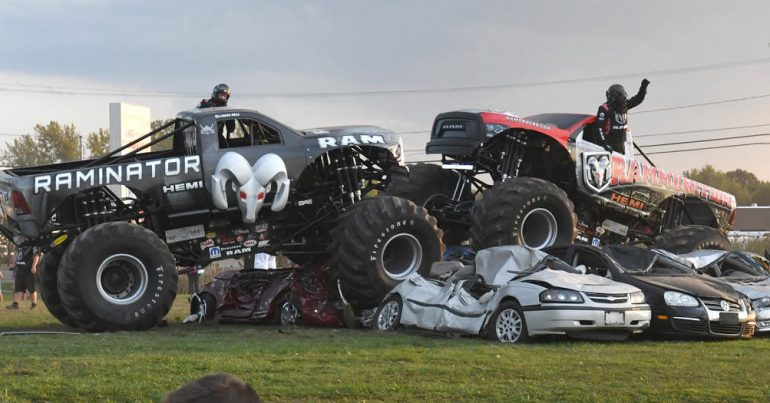 Monster Truck Madness – Racing at the Hall Bros Shop in November
