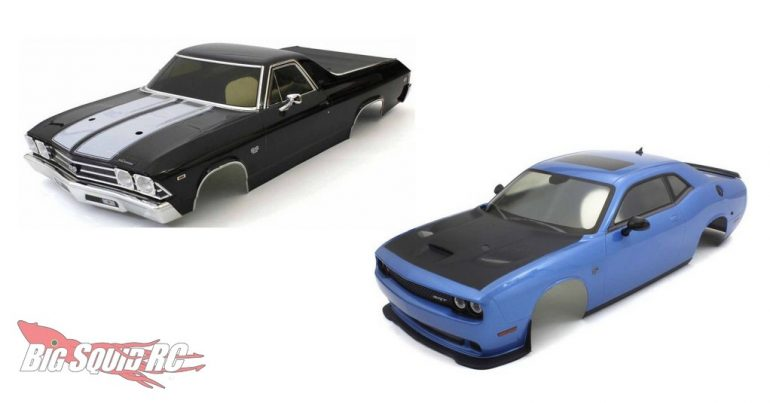 Shipping Now – Kyosho El Camino SS & Challenger SRT Hellcat Pre-Painted Bodies