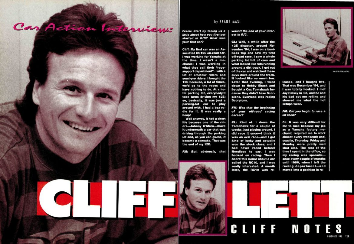 #TBT November 1991 Interview With Legendary RC driver Cliff Lett.