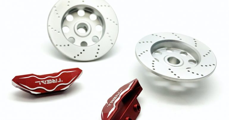 Treal Scale Brake Rotor and Caliper Set for the Axial RBX10 Ryft