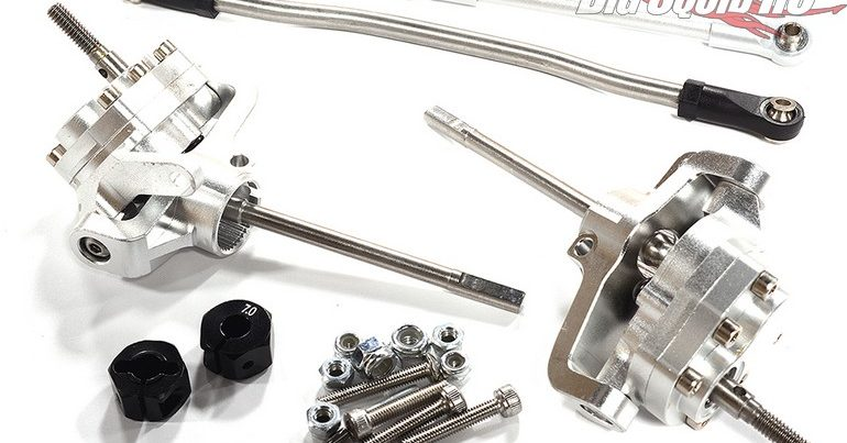 Integy Machined Front Portal Axle Conversion for the SCX10 II