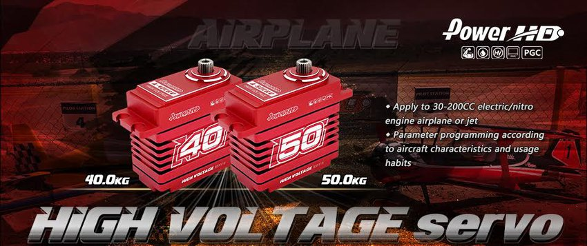 New Power HD A-40 and A-50 Airplane Servos